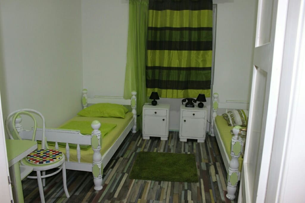 Bedroom with the table and two seats