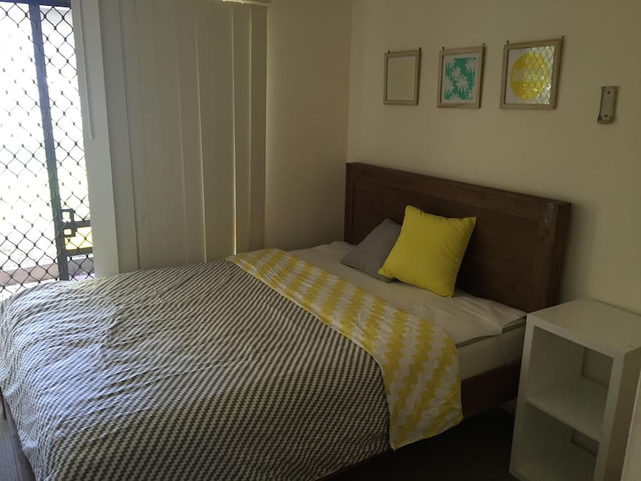 Guest Bedroom with new, queen size bed
