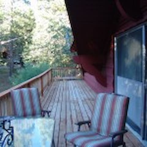 Extended balcony  and outdoor relaxation space