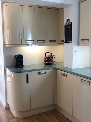 Fully equipped Kitchen including Tassimo Coffee machine and complimentary capsules for first morning coffee
