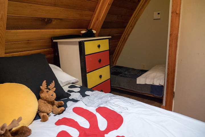 Upstairs Bedroom #2 also has a toddler bed