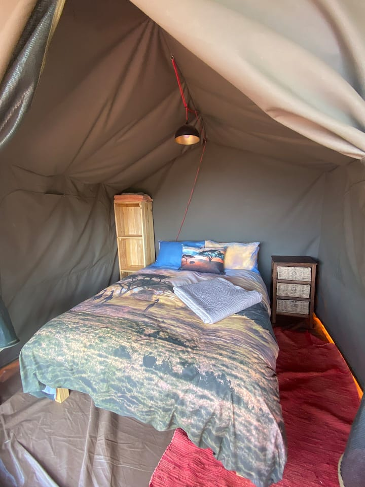 Tented camp #3 at Hoseshoe Game Reserve Double bed