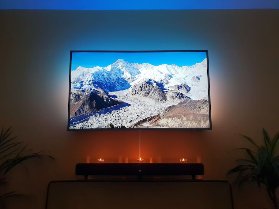 Living Room TV - Ambilight technology makes it special (reflects the colours on the walls!) Netflix premium awaits you.