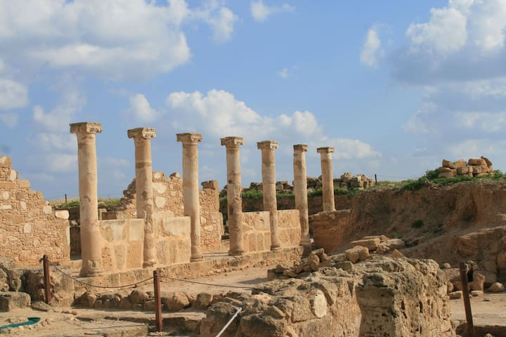 Archaeological park near the sea.