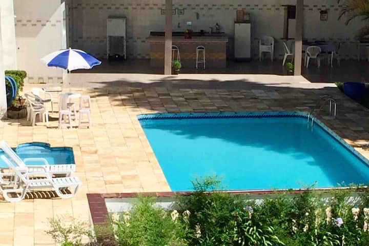 Chácara c/piscinas Lazer,brasa,sossego a 33mindeSP