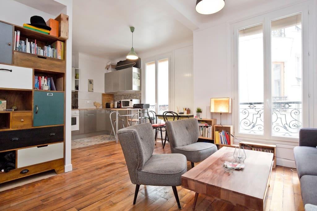 funky place to be wohnungen zur miete in paris le de. Black Bedroom Furniture Sets. Home Design Ideas