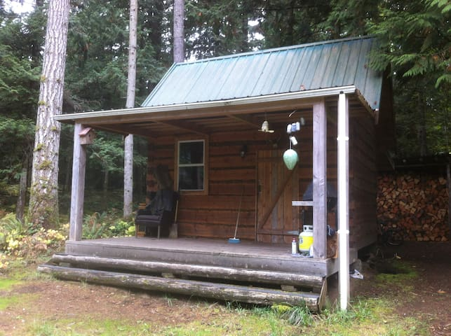 Broad axed rustic log cabin - Qualicum Beach - Cabane