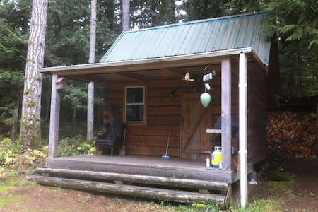 Broad axed rustic log cabin - Qualicum Beach - กระท่อม