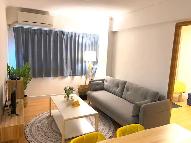 澳門(Macau) 小清新溫馨家居 兩房一廳並置有厨房 全公寓