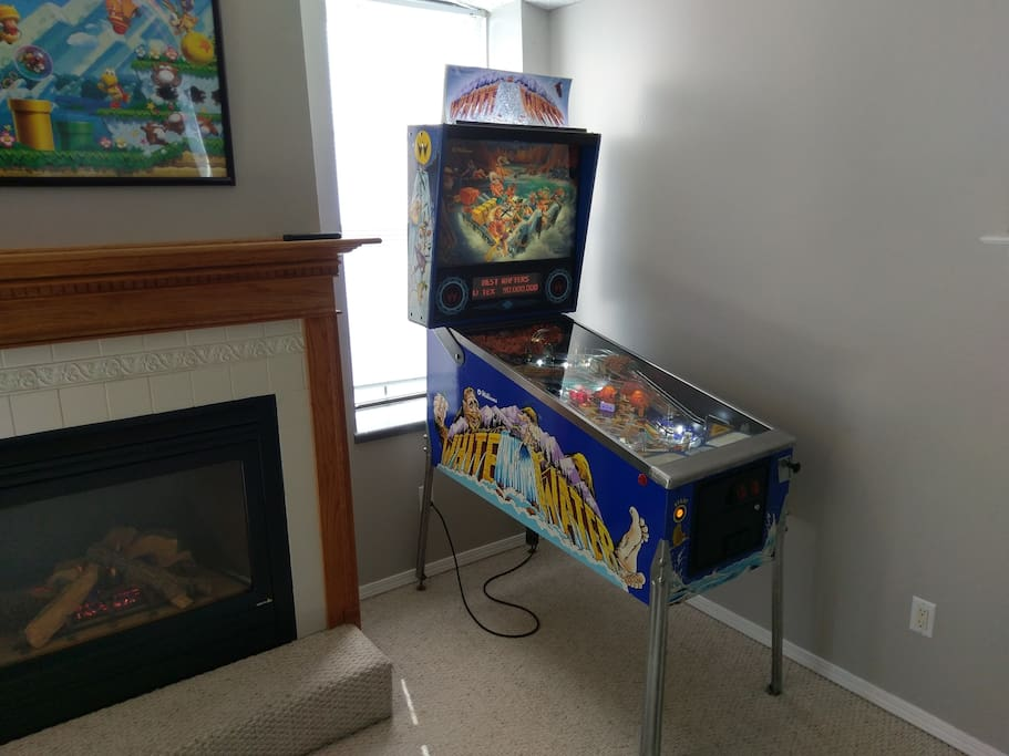 Pinball comes loaded with credits, then 25 cents per play