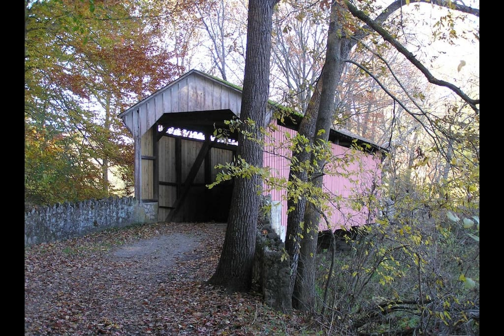 One of many local covered bridges, and some you can still drive across