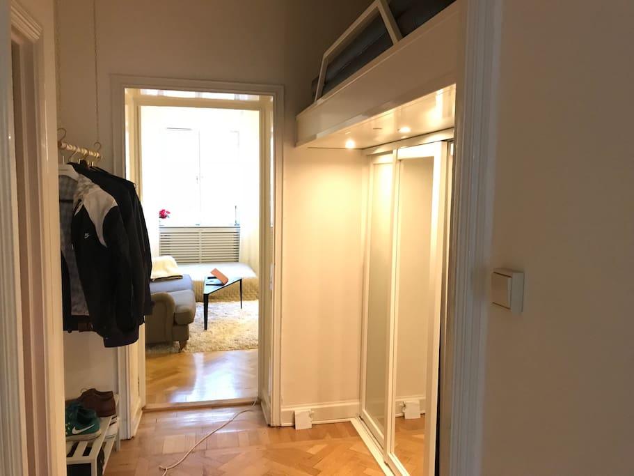 Hallway towards living room