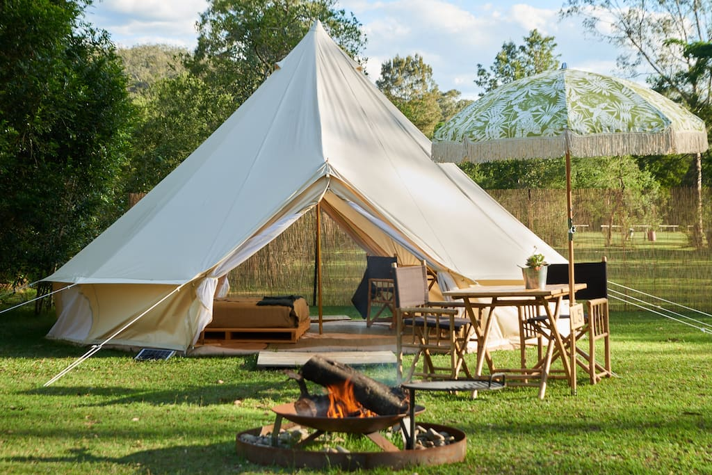 Your private camp awaits, perfects for family get togethers, celebrations and wellness retreats