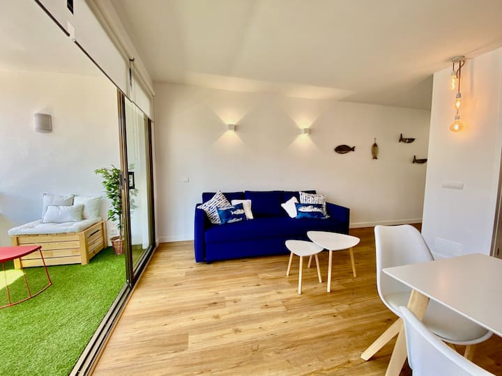 Apartment 50 m to the beach -  Wifi and AC