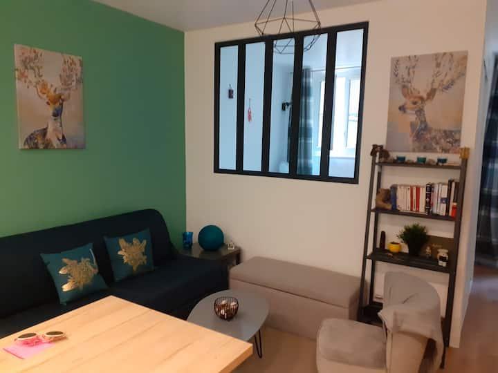 Appartement douillet avec terrasse 10min Paris