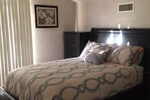 2nd bedroom upstairs with Queen size Bed.