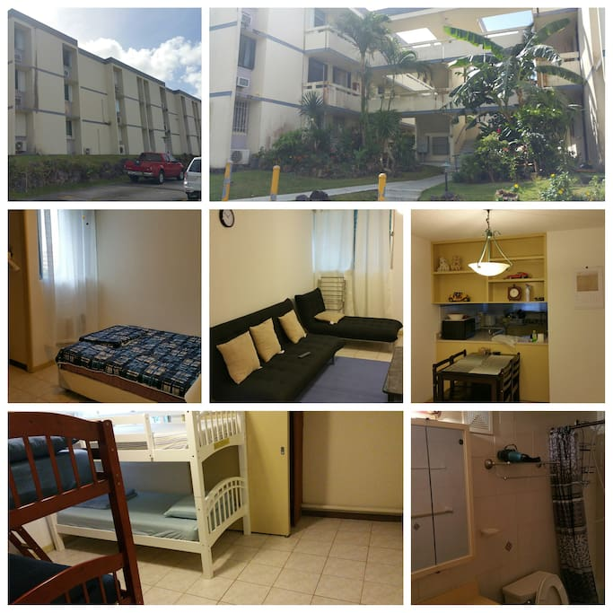 2 bedroom, 1 bathroom unit with kitchen,dining room and living room .
