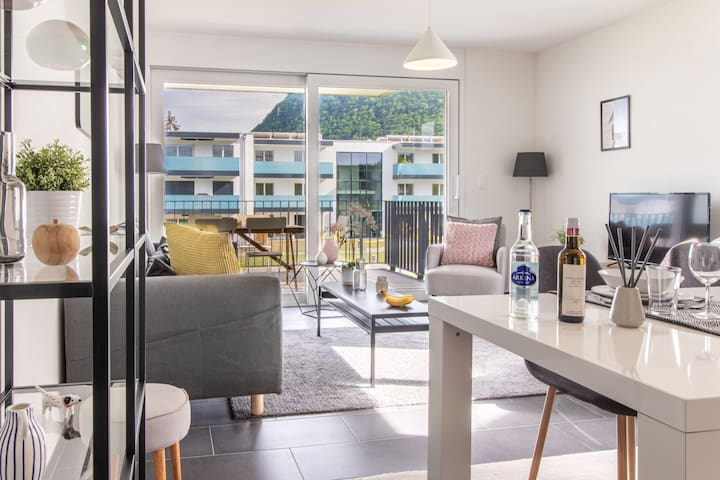 Modern 2 bedrooms apartment at Le Bouveret. Self-checkin.