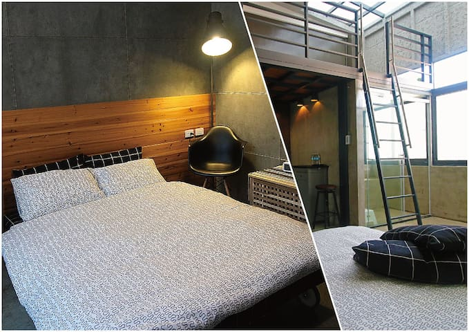Industrial Style Mezzanine Room - 30 secs to MRT - 高雄市 - House