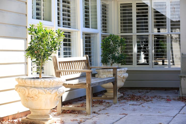Bench seat in Courtyard.