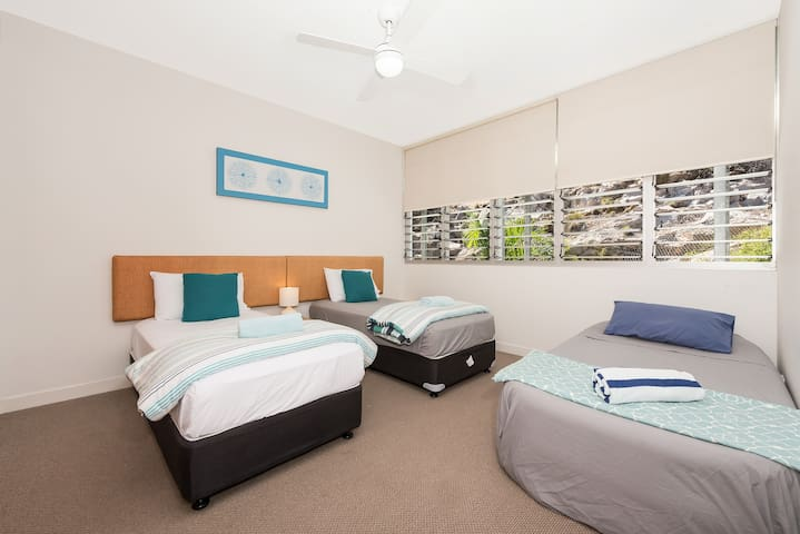 Spacious 2nd Bedroom set up for kids or couples. Air Bed available on request (additional charge applies)