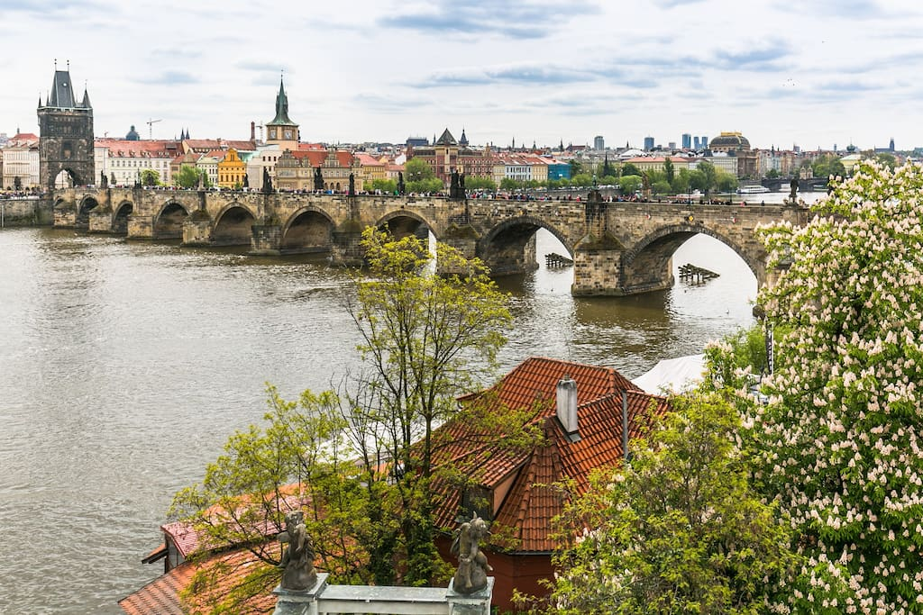 View from the window to Charles Bridge