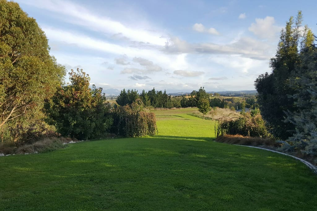View from the front deck of the garden