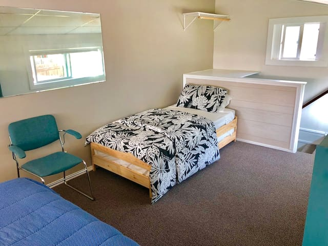 Couch can be turned into a single bed for the second or third guest to stay.