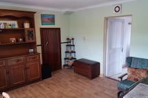 Living room with central heating
