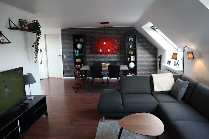 Flot 71m2 lejlighed midt på gågaden i Otterup