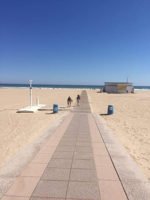 As you enter the beach