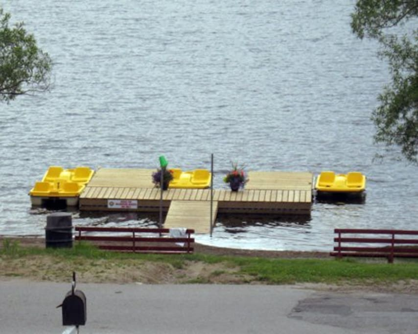 Paddle boats, kayaks, canoes for your pleasure