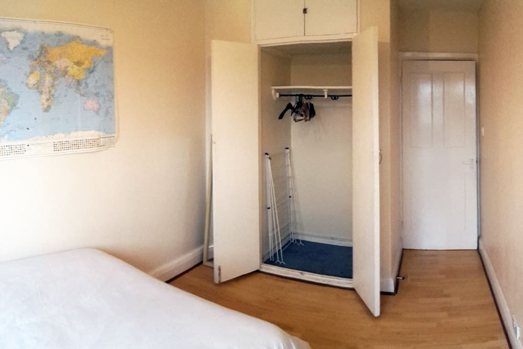 Your room and the laaaarge closet where you can store easily all your stuff