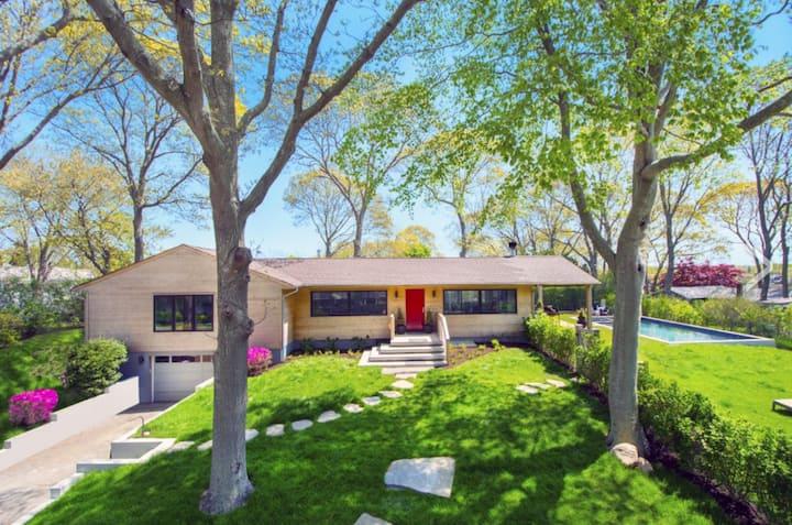 Modern Ranch w/ pool & bay views