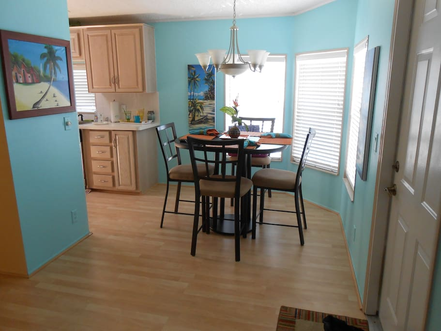 Dining room area close to the kitchen and living room