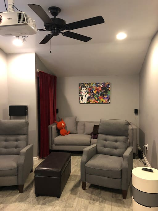 Full length sofa and two recliners
