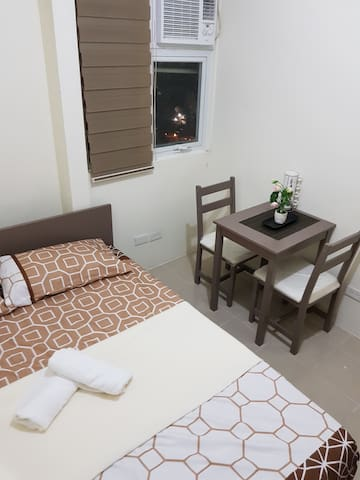 Cozy affordable new condo along EDSA, near MRT