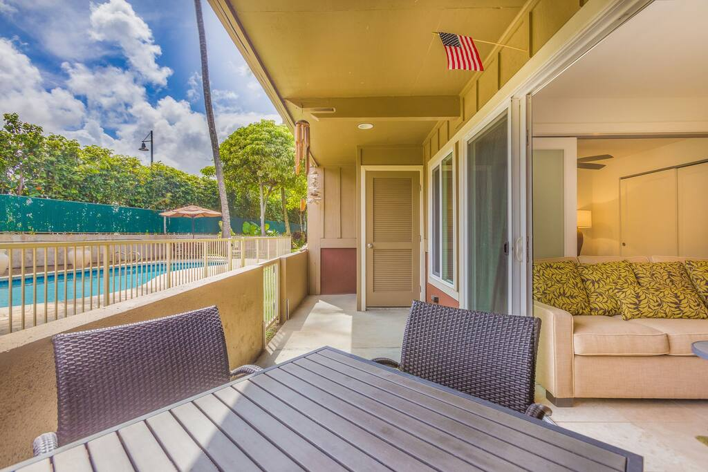 Watch the kids enjoy the pool from the comfort of your own lanai or Living Room!