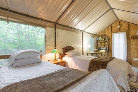 Wee cabin at Two Frog Bog.