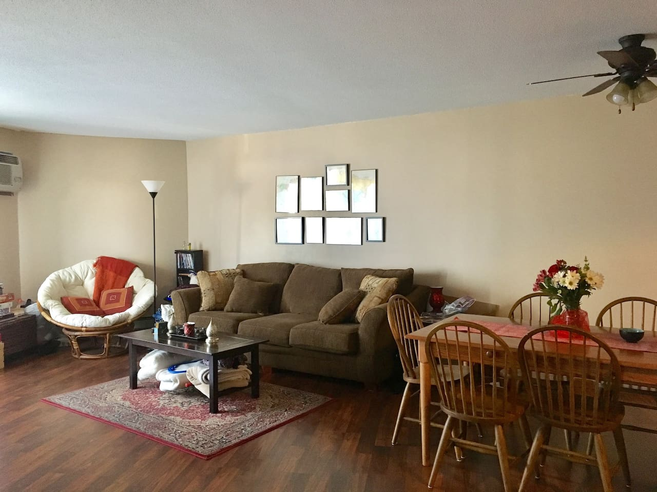 Full access to shared living dinning area with TV, Netflix and secure WiFi.  Easy access to patio and views of downtown Minneapolis or the Mississippi River.
