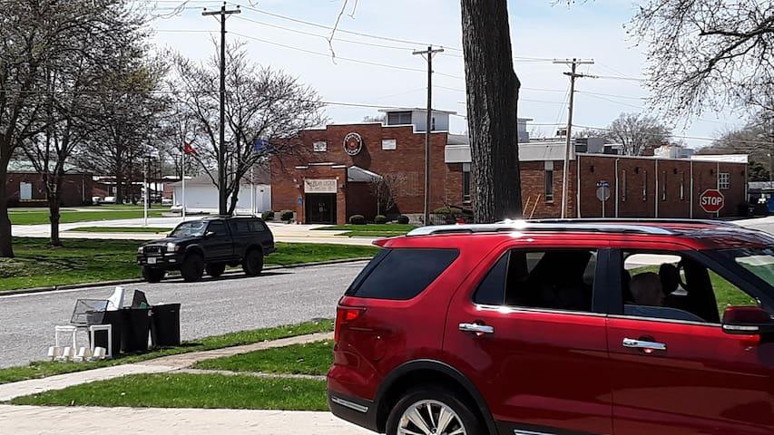 70 yards of sidewalk Legion to House.