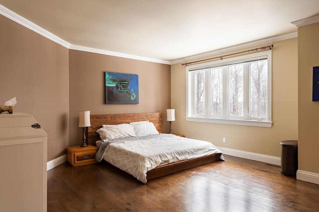 Master bedroom king size essentia organic mattress