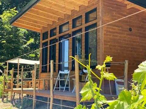 Petite maison dans la nature avec piscine