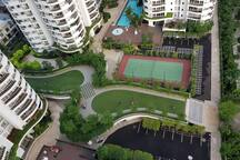 Complete Facilities with Swimming Pool, Fitness Center, Tennis Court, Children Playground, Mini Market and Laundry Service