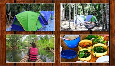 Baan wanghon Bamboo Raft