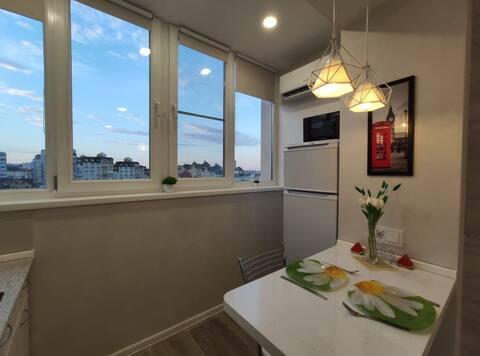 Уютная квартира - студия в центре города.