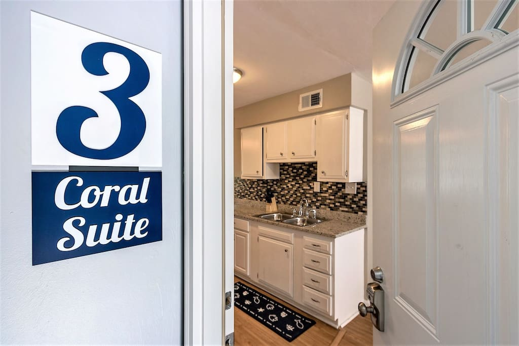 Coral Suite is a Private 2 Bedroom, 1 Bath Fully Stocked Apartment