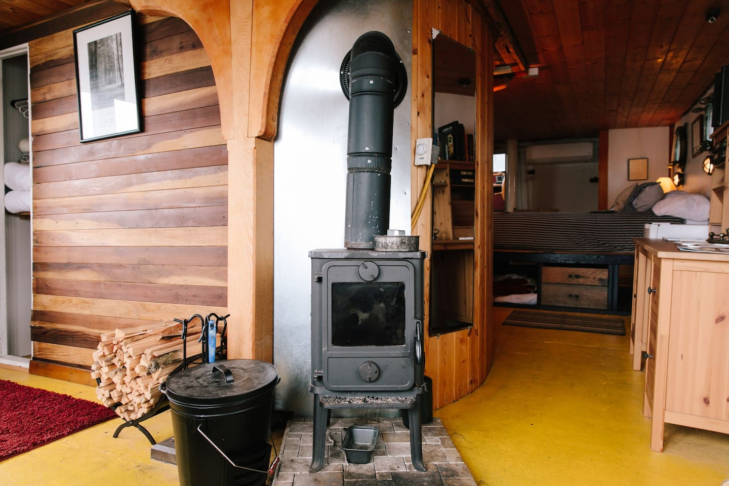 Fireplace in Captain's Quarters