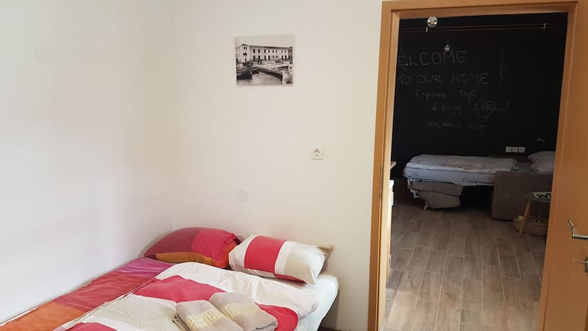 Room 2 with sofa bed 130 x 200 cm