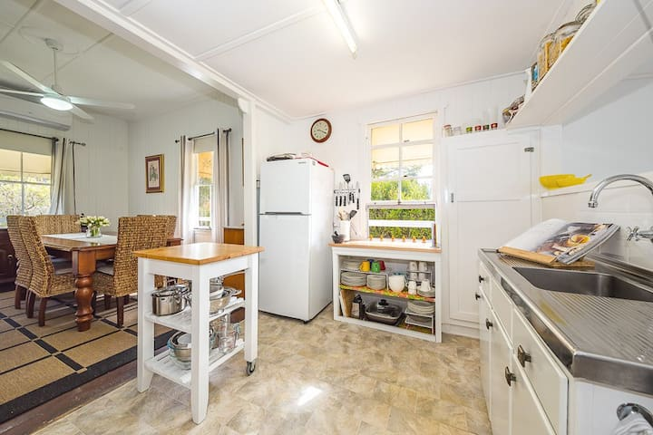 Open-plan air-conditioned dining/kitchen